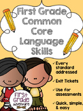 First Grade Common Core Language Skills {Language Art Skil