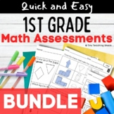BUNDLE- First Grade Common Core Math  Assessments