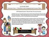 1st Grade Common Core Math Checklists and Drop Down Lesson Plans