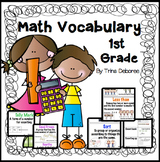 Math Vocabulary Word Wall for First Grade