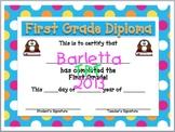 First Grade Diploma!