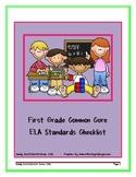 First Grade  ELA Common Core Standards Checklist