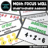 First Grade Envision Math Focus Wall Topic 1 Understanding