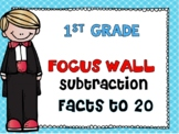 First Grade Envision Math Topic 6 Subtraction Facts to 20