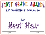 "First Grade ""FUN"" Awards"