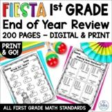 End of Year Math Review BUNDLE {First Grade Fiesta} First