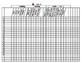 First Grade Grading Sheet Master/Template