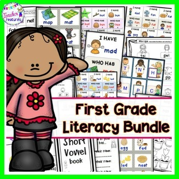First Grade Literacy Mega Pack: 4 Skill Packs