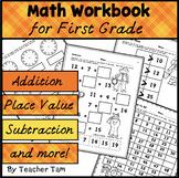 First Grade Math Common Core Cut-and-Glue Workbook