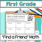 First Grade Math ~ Find a (Math!) Friend