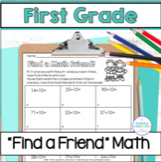 First Grade Math ~ Find a (Math!) Friend