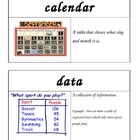 First Grade Math Investigations Unit One Vocabulary Cards