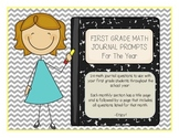 First Grade Math Journal Prompts For The Year