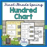 Place Value {Frog Math} First Grade Math Spring Hundred Chart