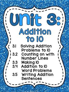 First Grade Math Unit 3