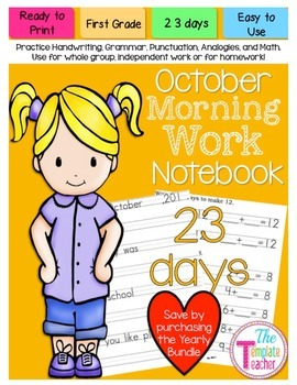 First Grade Morning Work - Do Now - October