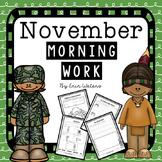 First Grade November Morning Work Pack