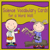 Science Vocabulary Cards - First Grade (Science Fusion)