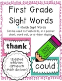First Grade Sight Words - Easy to Display