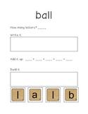 First Grade Sight Words- Write, Build, Add