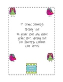 First Grade Spelling Lists {Journeys Common Core}