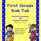First Grade Substitute Folder and Emergency Activities