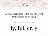 First Grade Suffixes