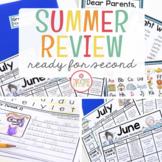 First Grade Summer Homework {Editable}