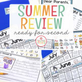 First Grade Summer Homework {Editable}