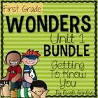 First Grade Wonders Unit 1 Bundle