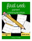 First Week Parent Communication Forms