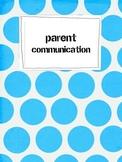 First Week Parent Communication Forms Chic Geek