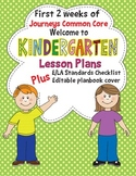 Kindergarten Lesson Plans First 2 Weeks Journeys Common Co