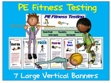 PE Fitness Testing: 7 Large Vertical Banners