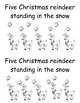 Five Christmas Reindeer-  Kindergarten Emergent Reader