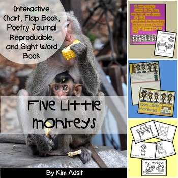 Five Little Monkeys - Interactive Chart and Sight Word Reader
