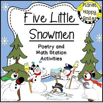Five Little Snowmen Poem and Winter Activities