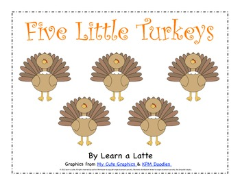 Five Little Turkeys - A Thanksgiving Little Reader (color