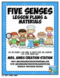 Five Senses & More...Lesson Plans and Materials
