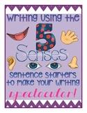 Five Senses Writing Sentence Starters to Make Narrative Wr