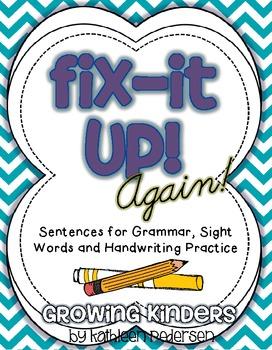 Fix It Up! {AGAIN!} - Sentences for Grammar, Sight Words a