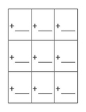 Flash Card Template for Addition,Subtraction,Division and