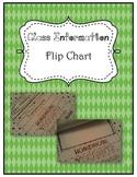 Flip chart of class information