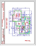 Floor Plan Example for an Autocad Drawing