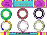 Floral Circle Frames