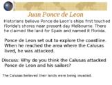 Florida Gr4 Explorer Ponce DeLeon, Columbus, Narvaez, de S