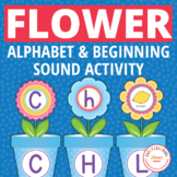 Flower Pot ABC and Initial Sound Matching for Preshool and
