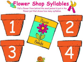 Flower Shop Syllables for ActivBoard