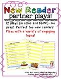 No Prep Partner Fluency Plays for New Readers- High K, 1st