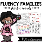 Fluency Families {short e words}